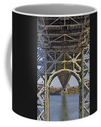 Under The George Washington Bridge I Coffee Mug by Susan Candelario
