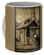 Vermont Maple Sugar Shack Circa 1954 Coffee Mug by Edward Fielding