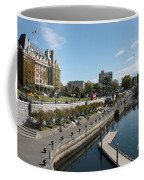 Victoria Harbour With Empress Hotel Coffee Mug by Carol Groenen