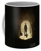 Victorian Man Standing Beneath An Arch Coffee Mug by Lee Avison