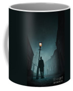 Victorian Man With Top Hat Leaning On A Street Light Coffee Mug by Lee Avison