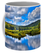View From The Green Bridge In Old Forge Ny Coffee Mug by David Patterson