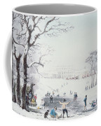 View Of Buckingham House And St James Park In The Winter Coffee Mug by John Burnet