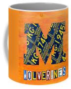 Vintage Michigan License Plate Art Coffee Mug by Design Turnpike