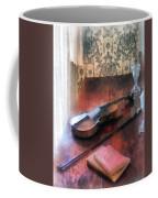 Violin On Credenza Coffee Mug by Susan Savad