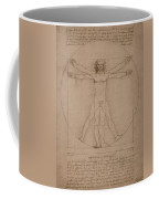 Vitruvian Man  Coffee Mug by War Is Hell Store