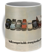 Volkswagen Body Facts Coffee Mug by Georgia Fowler