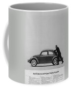 Vw Beetle Advert 1962 - And If You Run Out Of Gas It's Easy To Push Coffee Mug by Georgia Fowler