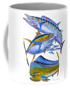 Wahoo Tuna Dolphin Coffee Mug by Carey Chen
