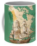 Watercolor Map 2 Coffee Mug by Debbie DeWitt