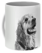 Wet Smiling Golden Retriever Shane Coffee Mug by Kate Sumners