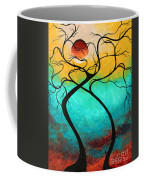Whimsical Abstract Tree Landscape With Moon Twisting Love IIi By Megan Duncanson Coffee Mug by Megan Duncanson