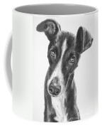 Whippet Black And White Coffee Mug by Kate Sumners