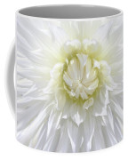 White Dahlia Floral Delight Coffee Mug by Jennie Marie Schell