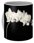 White Orchids Monochrome Coffee Mug by Adam Romanowicz