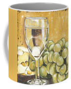 White Wine And Cheese Coffee Mug by Debbie DeWitt