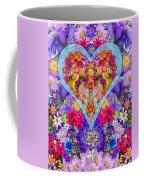 Wild Flower Heart Coffee Mug by Alixandra Mullins