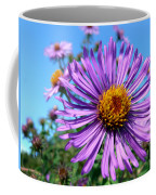 Wild Purple Aster Coffee Mug by Christina Rollo