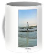 Windsurfing Art Poster - California Collection Coffee Mug by Ben and Raisa Gertsberg