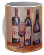 Wine Bottle Trio Coffee Mug by Donna Tuten
