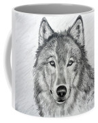 Wolf Coffee Mug by Julie Brugh Riffey