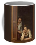 Women From Galicia At The Window Coffee Mug by Bartolome Esteban Murillo