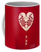 Wooden Heart Coffee Mug by Anne Gilbert