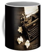 Words Punched On To Paper Coffee Mug by Edward Fielding