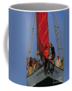 Working The Sails Coffee Mug by Kathleen Struckle