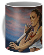 Yelena Isinbayeva   Coffee Mug by Paul Meijering