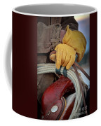 Yellow Gloves Coffee Mug by Inge Johnsson
