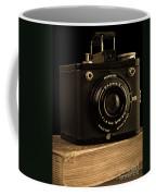 You Push The Button We Do The Rest Kodak Brownie Vintage Camera Coffee Mug by Edward Fielding