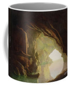 A Grotto In The Gulf Of Salerno - Sunset Coffee Mug by Joseph Wright of Derby