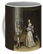 Lady At Her Toilette Coffee Mug by Gerard ter Borch