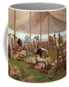 The Sheep Shearing Match Coffee Mug by Eyre Crowe