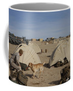 A Dog Handler And His Military Working Coffee Mug by Stocktrek Images