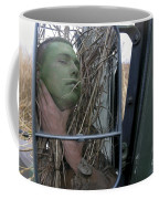 A Scout Observer Applies Camouflage Coffee Mug by Stocktrek Images