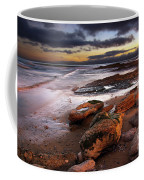 Coastline At Twilight Coffee Mug by Carlos Caetano