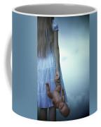 Girl With Baby Doll Coffee Mug by Joana Kruse