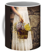 Girl With Flowers Coffee Mug by Joana Kruse