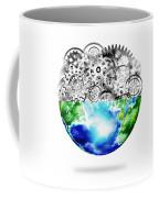 Globe With Cogs And Gears Coffee Mug by Setsiri Silapasuwanchai