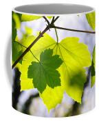 Green Leaves Coffee Mug by Carlos Caetano