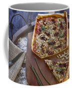 Pizza With Herbs Coffee Mug by Joana Kruse