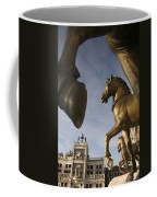 The Horses On The Basilica San Marcos Coffee Mug by Jim Richardson