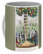 The Ladder Of Fortune Coffee Mug by Currier and Ives