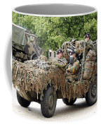 Vw Iltis Jeeps Used By Scout Or Recce Coffee Mug by Luc De Jaeger