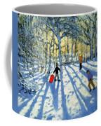 Woodland In Winter Coffee Mug by Andrew Macara