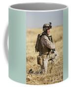 U.s. Marine Patrols A Wadi Near Kunduz Coffee Mug by Terry Moore