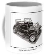 1930 Ford Model A Roadster Coffee Mug by Jack Pumphrey