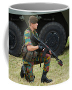 A Soldier Of An Infantry Unit Coffee Mug by Luc De Jaeger